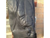 Motorcycle Trousers Leather Black