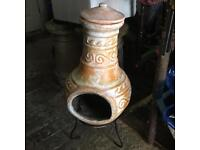 Clay Chiminea 400 W x 800 H With Stand
