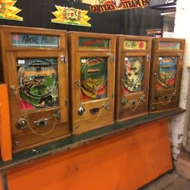 One arm bandit, penny / slot machines / coin operated WANTED