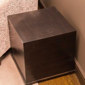 Dark Wood Side Table - Quick Sale
