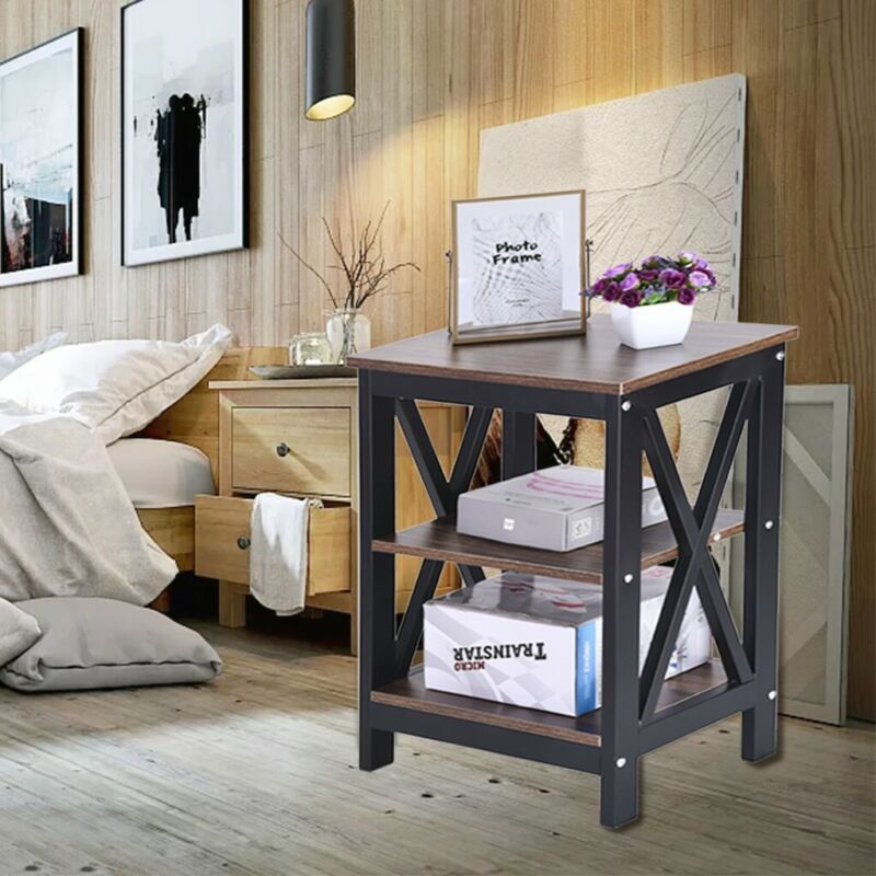 Nightstand Bed Side Table With Storage Sofa End Table With 2