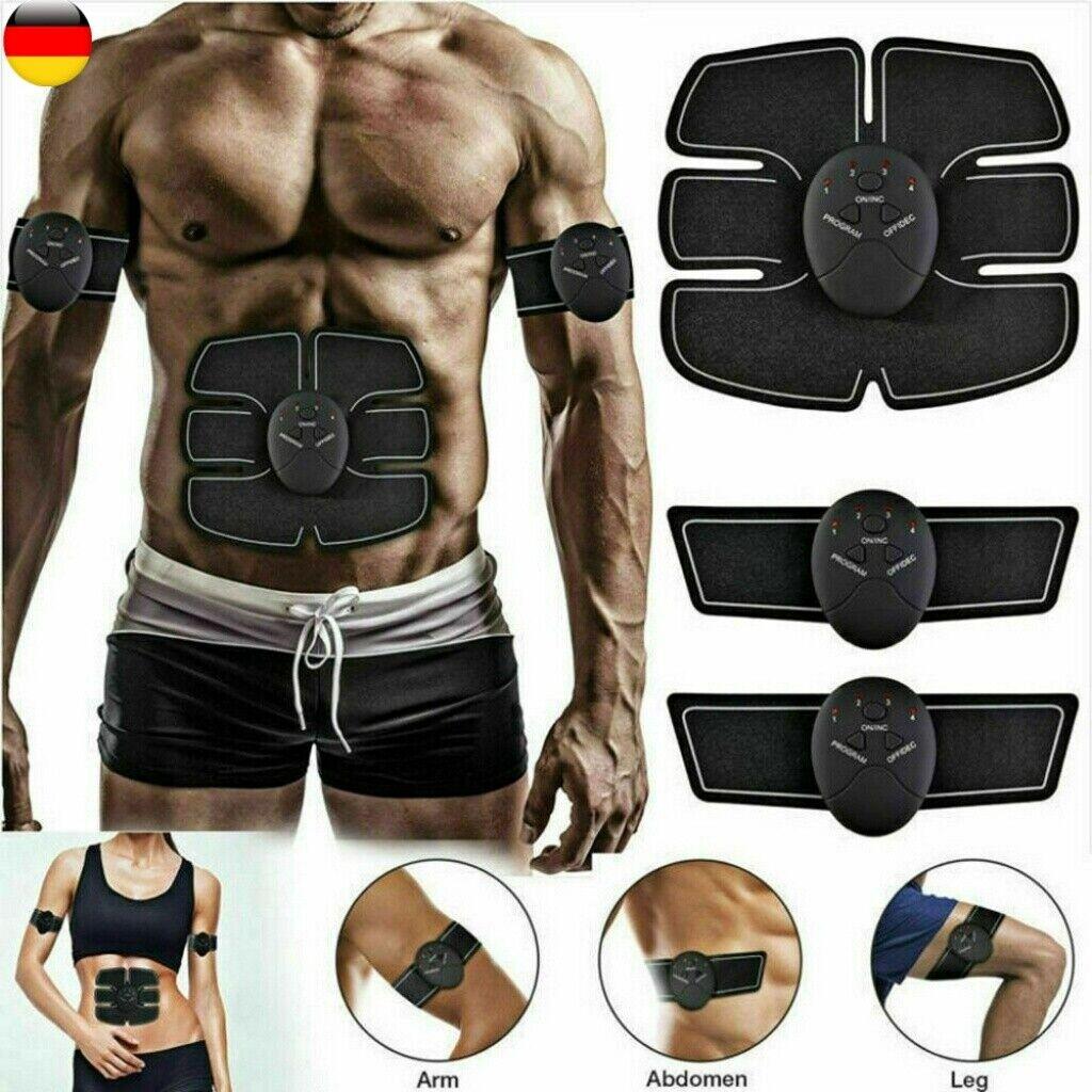 EMS Muskelstimulation Bauchtrainer Fitnessgerät Bauchmuskel 4IN1 Traning Gürtel