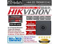 4 Channel Hikvision Turbo-HD HiWatch Cube DVR with HDD