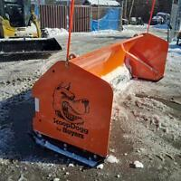 10' Scoop Dogg Snow Plow For Backhoe