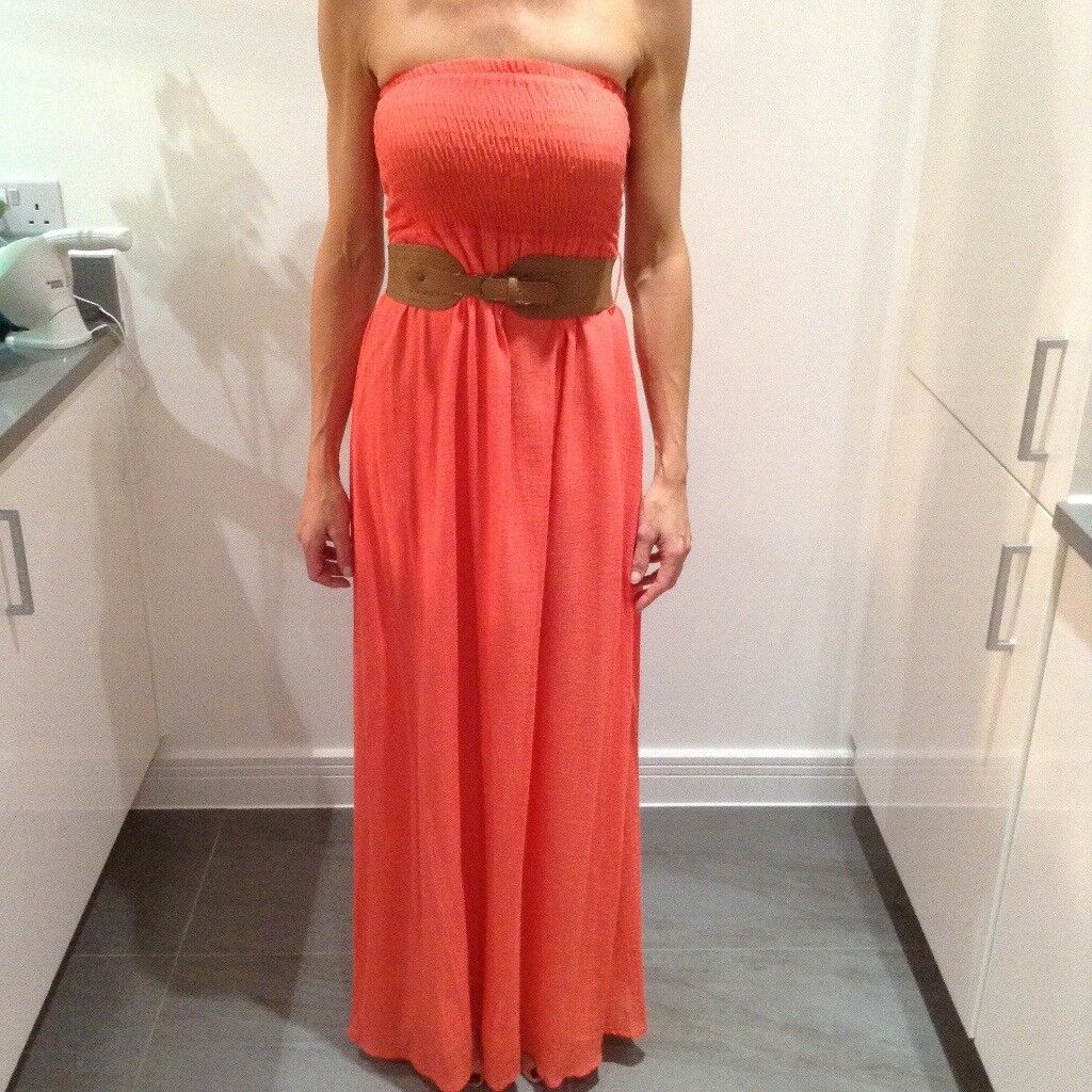 Jane Norman summer boob tube maxi dress size 8