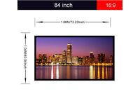 New,, Portable,,84 inch,,,4:3 Fabric Matte PVC Projector Screen 1080P 3D