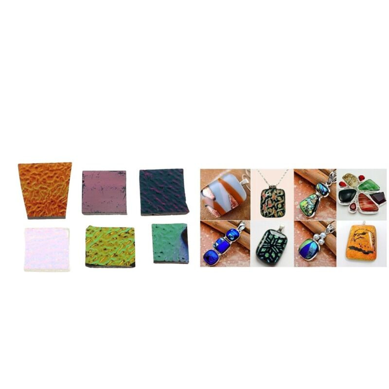 1+Ounch+Assorted+Kiln+Confetti+Glass+Chips+90+COE+Dichroic+Colorful+Glass+For