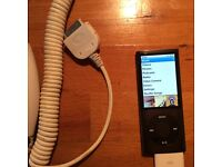 Ipod Nano with Camera and colour display plus car and wall charger