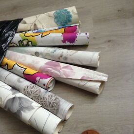 Various part used rolls of wallpaper to go as one lot