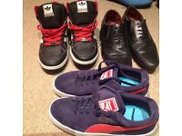 3 pairs of mens shoes size 7