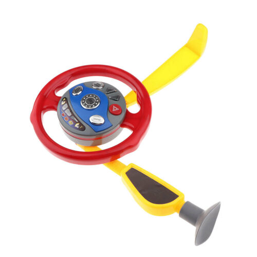 Electric Steering Wheel Toy for Car Seat Child Simulated Dri
