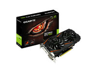 GIGABYTE GTX1060 3G GRAHICS CARD BOXED, LIKE NEW ONLY A FEW WEEK OLD