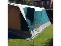 Large Sunncamp Maison 6 berth canvas frame Tent
