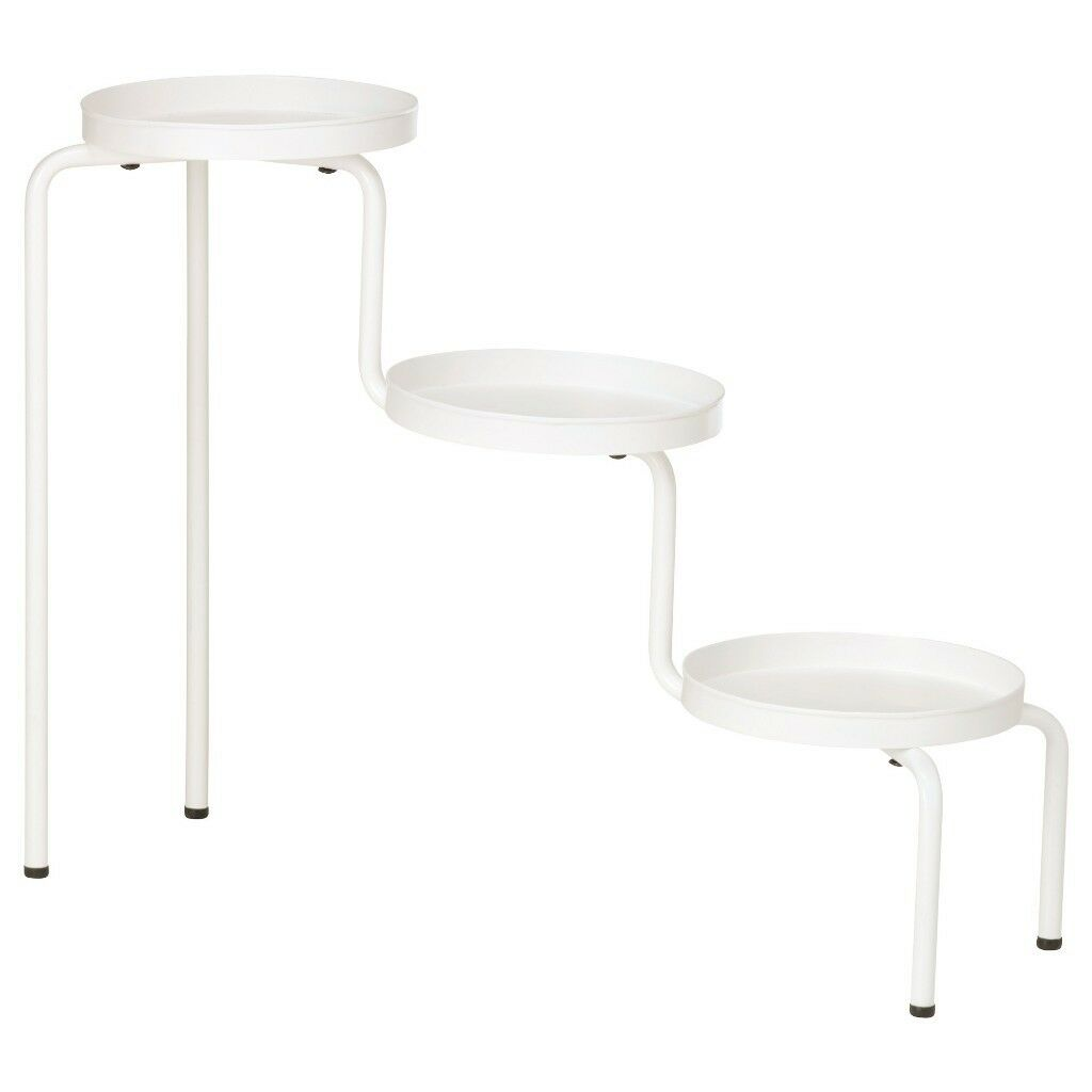 Ikea White Three Tier Side Table Plant Stand