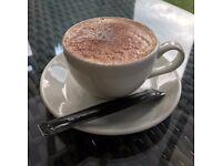 Set of 4 White Cappuccino/Tea Cups & Saucers - Crockery/Mugs