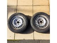 VW T5 Steel Wheels 16 inch with tyres