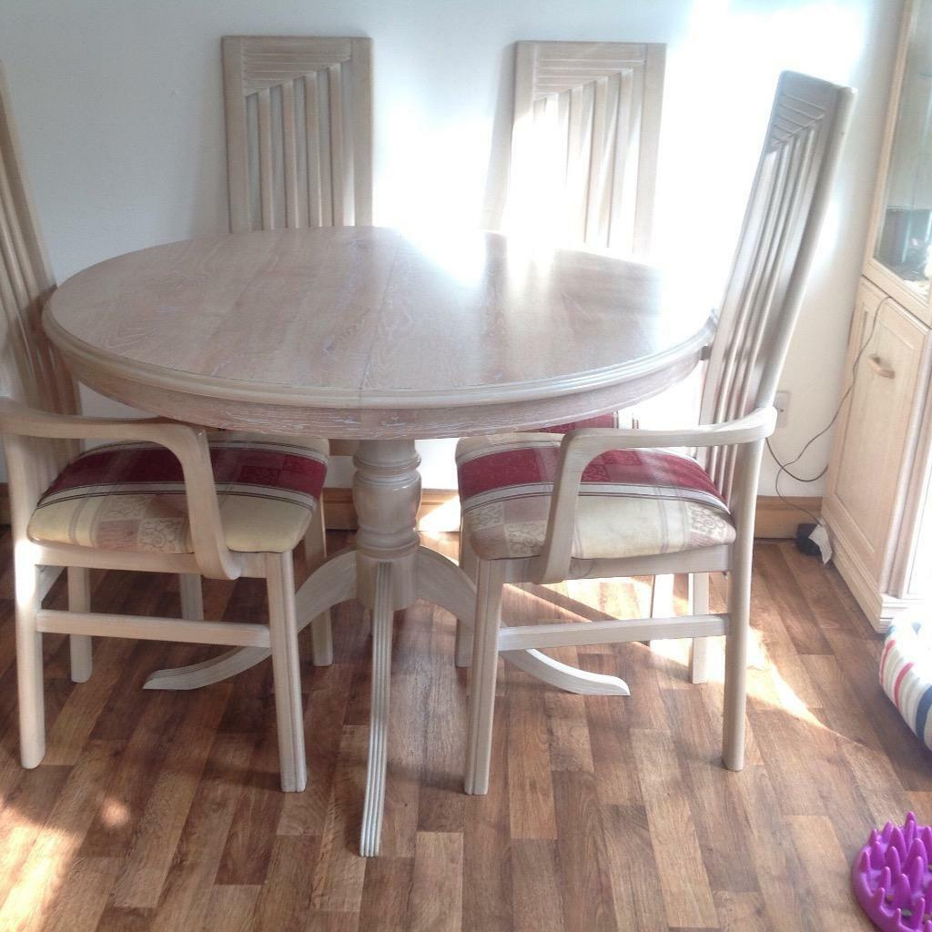 Limed oak round table six chairs Buy sale and trade ads : 86 from dealry.co.uk size 1024 x 1024 jpeg 107kB