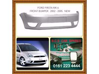 FORD FIESTA MK 6 FRONT BUMPER NEW ( READY TO PAINT )