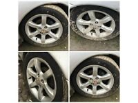 "Mg Mgf 185/55/15"" Alloy Wheels and Tyres Set of Four"