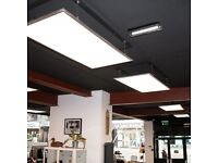 Large LED Light Panels 1200 x 600 With Hanging Wires Retail Office Home