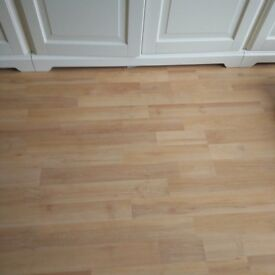 Laminate flooring in beech.approx 40m2
