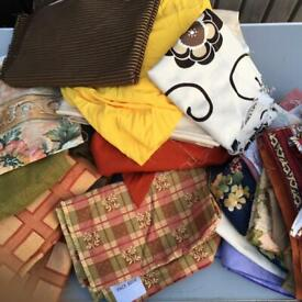 Assortment of sewing material for upholstery, craft, etc