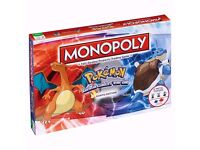 Monopoly Pokemon Kanto Edition New & Sealed