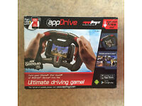 Apptoys driving game / accessory for iphone 4 and up or ipod 4th gen and up.