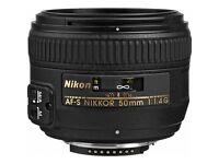 Nikon 50 mm F1.4G AF-S Nikkor Lens - Black