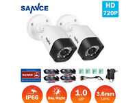 NEW BOXED SANNCE 5IN1 8CH 1080N DVR CCTV Outdoor 720P Camera Home Security TVI System Kit