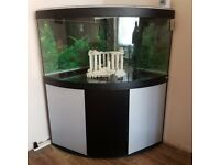 Fluval Venezia 350litre fish tank, comes with fluval 405 external filter, ornament and heater