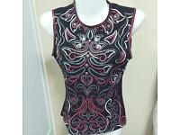 Morgan Ladies' Clubbing Embellished Party Top Sleeveless