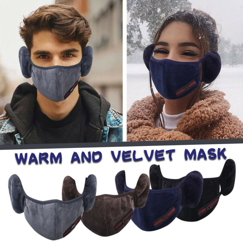 Unisex Face Mask Reusable washable 2-in-1 Mouth Cover Earmuf