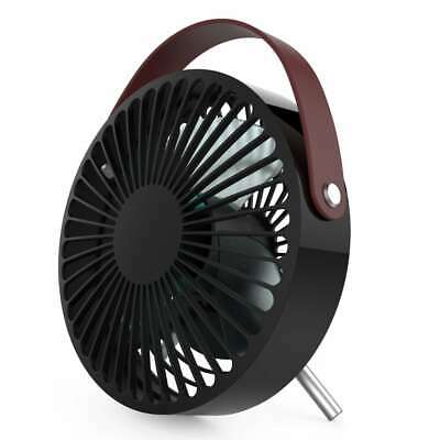 Perel Ventilador USB Portátil Negro y Marrón de Mano Bolsillo Eléctrico Verano