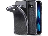 Samsung A3 2017 phone Case silicone Glitter Grey