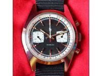 Vintage LIP 1970s Valjoux Panda Chronograph French Sports Watch - Service Advised