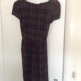 New Look smart black check dress size 18