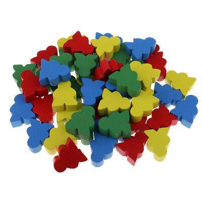 50x Bunte menschliche Form Holzschach für Kinder Brettspiele Lernspielzeug
