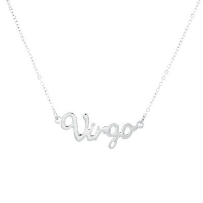 Virgo Sign - Lux Accessories Horoscope Zodiac Sign Virgo Silver Necklace