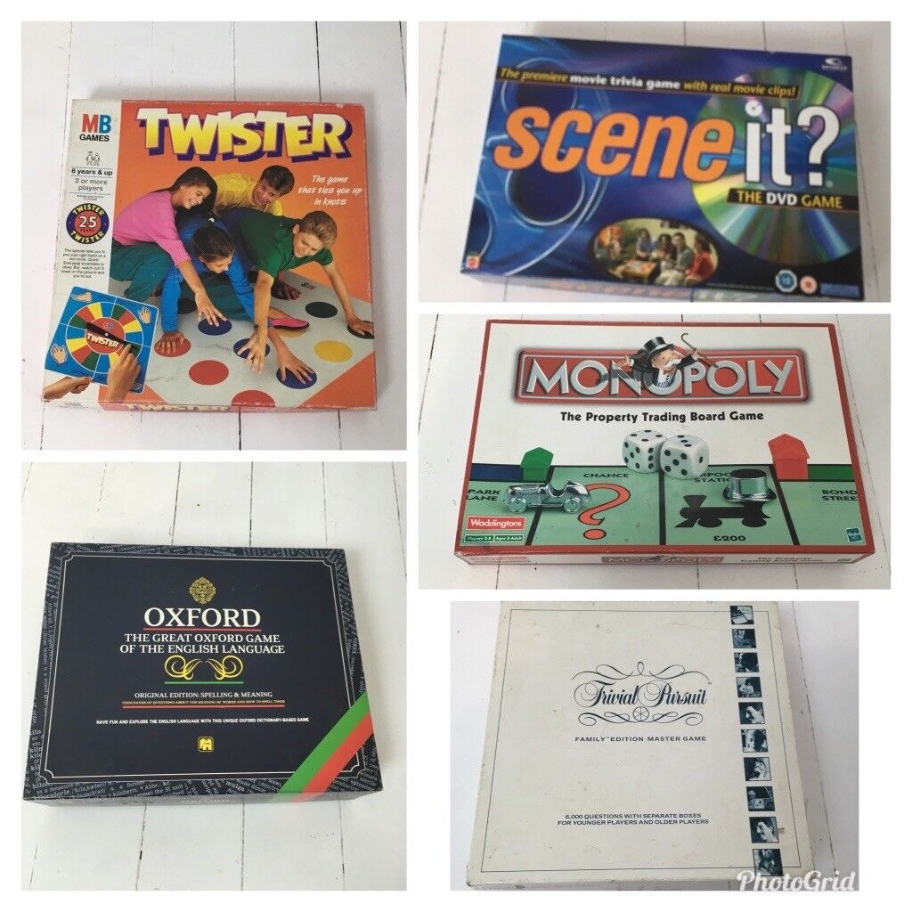 Best selection of Christmas boar and party games! Twister, trivial pursuit