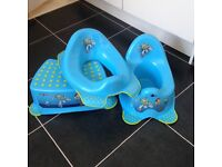 Buzz lightyear potty, step and toilet seat