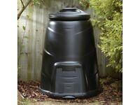 Black 330L large compost bin