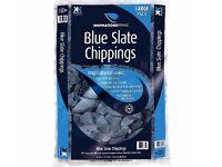 DECORATIVE STONES BLUE SLATE CHIPPINGS PAVING