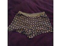 Paisley boho ladies shorts