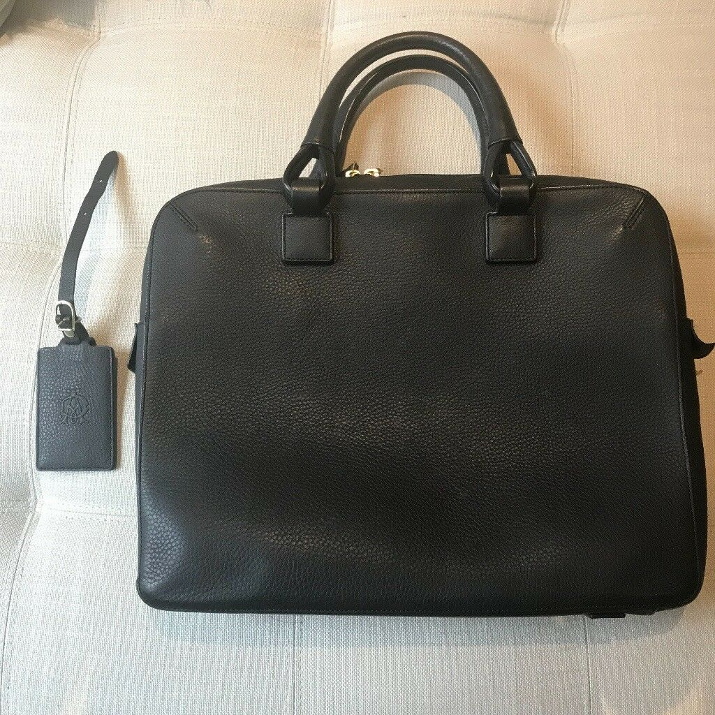 Dunhill leather briefcase