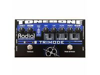 Radial Tonebone TriMode 12AX7 Tube Boost Overdrive/Distortion Preamp Pedal with Velcro Underneath