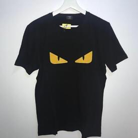 Black Fendi Bag Bugz Yellow Eyes T-Shirt
