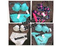 REDUCED !!! Bikinis X 4 all brand new with tags & hygiene strips