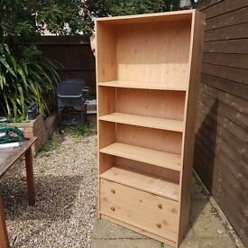 Tall Storage Unit With 2 Drawers