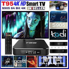 Android TV Box T95M 4K HD Fully Loaded Jailbroken 64 Bit 2ghz Free HD TV Sports Movies + Amazon